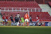 Swindon Town Defender, Raphael Rossi Branco (29) with a shot on goal during the EFL Sky Bet League 1 match between Swindon Town and Southend United at the County Ground, Swindon, England on 2 January 2017. Photo by Adam Rivers.