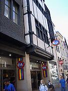 Frankrijk, Rouen, 6-9-2005..Winkel van C en A, C&A, in het centrum van de stad. Multinational, logo, beeldmerk. Export. Kleding, mode kledinwinkel, economie, bestedingen...Foto: Flip Franssen/Hollandse Hoogte