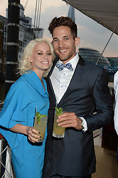 The Johnnie Walker Gold Label Reserve Party aboard John Walker & Sons Voyager, St.Georges Stairs Tier, Butler's Wharf Pier, London, UK on 17th July 2013.<br /> Picture Shows:-Kimberly Wyatt & Max Rogers.