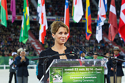 Opening Ceremony, HRH Princess Haya bint Al Hussein<br /> Alltech FEI World Equestrian Games™ 2014 - Normandy, France.<br /> © Hippo Foto Team - Leanjo de Koster<br /> 25/06/14