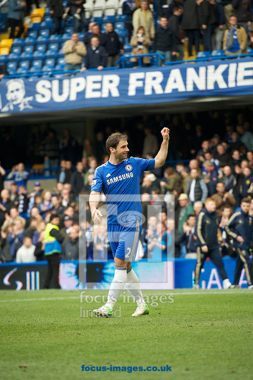 Picture by Alan Stanford/Focus Images Ltd +44 7915 056117.07/04/2013.Branislav Ivanovic of Chelsea thanks the fans after the Barclays Premier League match at Stamford Bridge, London.