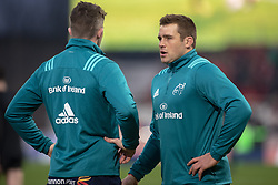 January 19, 2019 - Limerick, Ireland - CJ Stander of Munster talks to Peter O'Mahony of Munster during the Heineken Champions Cup match between Munster Rugby and Exeter Chiefs at Thomond Park in Limerick, Ireland on January 19, 2019  (Credit Image: © Andrew Surma/NurPhoto via ZUMA Press)