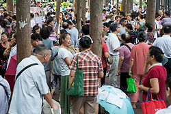 August 28, 2017 - Nanjin, Nanjin, China - Nanjing, CHINA-28th August 2017: (EDITORIAL USE ONLY. CHINA OUT) Parents seek marriage for their single children at a match-making activity in Nanjing, east China's Jiangsu Province on Chinese Valentine's Day. (Credit Image: © SIPA Asia via ZUMA Wire)
