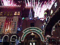 Mission Inn Festival of Lights Fireworks Display, Riverside, California