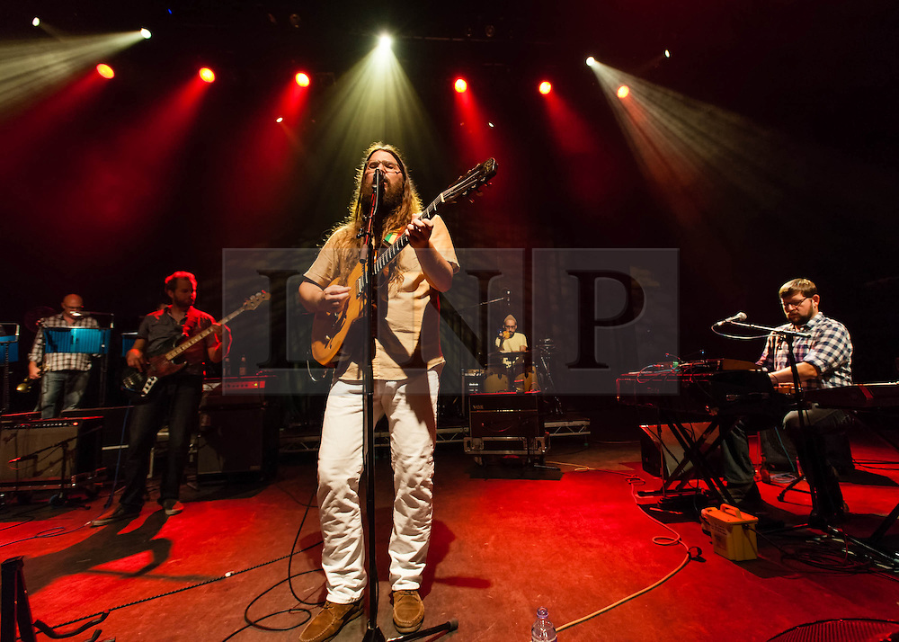© Licensed to London News Pictures. 04/09/2013. London, UK.   Matthew E White performing live at Shepherds Bush Empire. Matthew E. White is an American songwriter, producer, arranger, and founder of Spacebomb Records, through which he launched his debut album Big Inner in 2012.    Photo credit : Richard Isaac/LNP