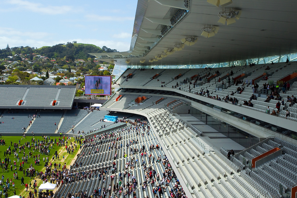 The south stand at Eden Park Stadium, Auckland, New Zealand, Sunday, October 10, 2010.   Credit:SNPA / David Rowland