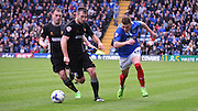 Caolan Lvery makes a break for it during the Sky Bet League 2 match between Portsmouth and Mansfield Town at Fratton Park, Portsmouth, England on 24 October 2015. Photo by Michael Hulf.