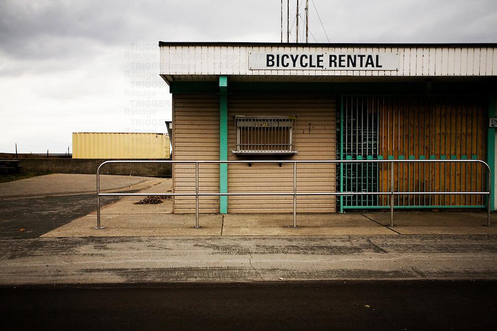 Bicycle rental building