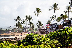 A beautiful day on hand for day one round one of the Hawaiian Pro at Haleiwa, Oahu, Hawaii, USA.
