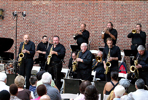 The Dayton Jazz Orchestra performs during Vectren Jazz & Beyond at the Dayton Art Institute, Thursday, August 2, 2012.