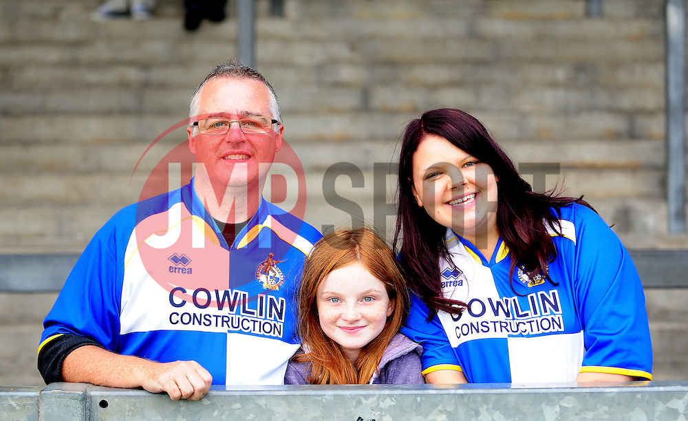 Bristol Rovers fans - Photo mandatory by-line: Neil Brookman - Mobile: 07966 386802 23/08/2014 - SPORT - FOOTBALL - Bristol - Memorial Stadium - Bristol Rovers v AFC Telford - Vanarama Football Conference