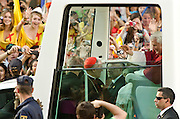 Pope Benedicts official entrance into Madrid via Puerta al Alcala