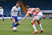 Bury On loan Midfielder,  John O'Sullivan  in action during the Sky Bet League 1 match between Bury and Doncaster Rovers at the JD Stadium, Bury, England on 9 April 2016. Photo by Mark Pollitt.