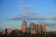 UK, London, Docklands, Canary Wharf towers as seen from Stave Hill Ecological park. September 2014<br /> <br /> &copy; Zute Lightfoot Photography