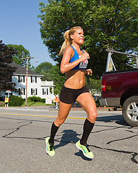 LL Bean 10K road race: open women winner Erica Jesseman