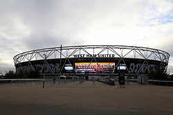 A general view of the ground before the press conference at the London Stadium.
