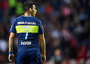 "SEVILLE, SPAIN - NOVEMBER 11:  Cristian Pavon of Boca Juniors looks on during the match between Sevilla FC vs Boca Juniors as part of the friendly match ""Trofeo Antonio Puerta"" at Ramon Sanchez Pizjuan stadium on November 11, 2016 in Seville, Spain.  (Photo by Aitor Alcalde Colomer/Getty Images)"