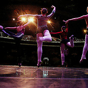 Dancers rehearse for the Nutcraker Ballet in Des Moines, Iowa.