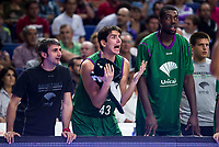 Real Madrid's player Carlos Suarez and Jamar Smith and Unicaja Malaga's player XXX during match of Liga Endesa at Barclaycard Center in Madrid. September 30, Spain. 2016. (ALTERPHOTOS/BorjaB.Hojas)