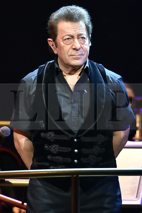 © Licensed to London News Pictures. 12/02/2016. © Licensed to London News Pictures. 12/02/2016. Composer JEFF WAYNE appears on stage for a photocall for H.G Wells classic War Of The Wells at the Dominion Theatre.  London, UK. Photo credit: Ray Tang/LNP