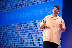 Terry Myerson, Corporate Vice President, Microsoft previews new features of Windows Phone 8 during a Microsoft Developer Summit in San Francisco, California.