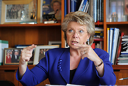 Viviane Reding, vice president of the European Commission, in her office at the EU Commission headquarters building in Brussels, Belgium, on Wednesday, June 27, 2012. (Photo © Jock Fistick)