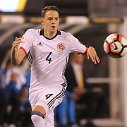 EAST RUTHERFORD, NEW JERSEY - JUNE 17:  Santiago Arias #4 of Colombia in action during the Colombia Vs Peru Quarterfinal match of the Copa America Centenario USA 2016 Tournament at MetLife Stadium on June 17, 2016 in East Rutherford, New Jersey. (Photo by Tim Clayton/Corbis via Getty Images)
