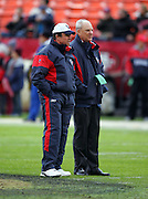 SAN FRANCISCO - JANUARY 1:  (Left to right) Houston Texans Head Coach Dom Capers with Chairman and CEO Robert C. McNair on the field during pregame warmups against the San Francisco 49ers at Monster Park on January 1, 2006 in San Francisco, California. The Niners defeated the Texans 20-17 in overtime. ©Paul Anthony Spinelli *** Local Caption *** Dom Capers;Robert C. McNair