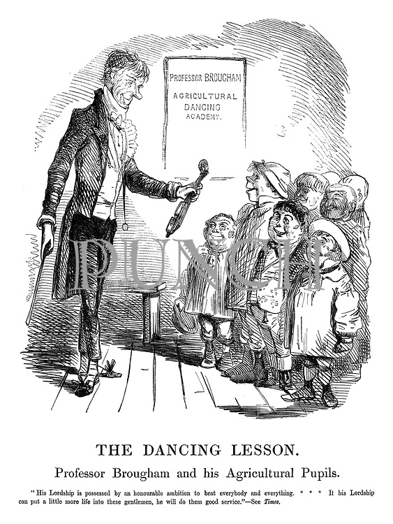 The Dancing Lesson. Professor Brougham and his Agricultural Pupils.