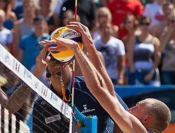 05.08.2011, Klagenfurt, Strandbad, AUT, Beachvolleyball World Tour Grand Slam 2011, im Bild Richard Schuil NED , EXPA Pictures © 2011, PhotoCredit EXPA Gert Steinthaler