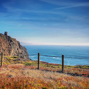Exploring the Marin Headlands. Looking out at the Pacific Ocean towards Point Bonita Lighthouse. Photo by Jennifer Rondinelli Reilly.