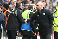 Picture by Paul Chesterton/Focus Images Ltd.  07904 640267.21/04/12.Norwich Manager Paul Lambert and Blackburn Manager Steve Kean at the end of the Barclays Premier League match at Ewood Park Stadium, Blackburn