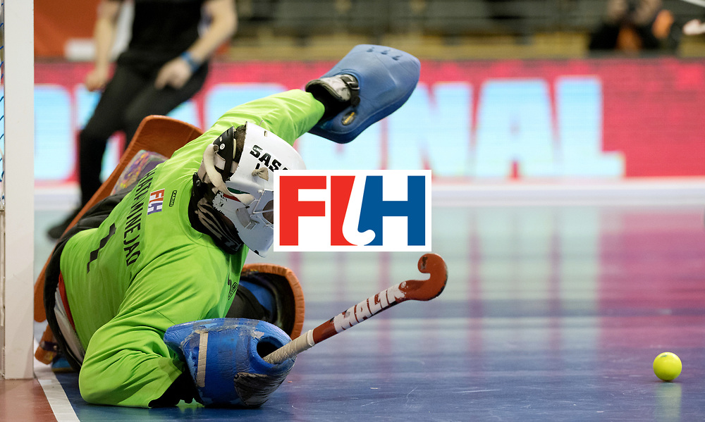 BERLIN - Indoor Hockey World Cup<br /> Quarterfinal 1: Iran - Czech Republic<br /> foto: HATAMINEJAD Sasan.<br /> WORLDSPORTPICS COPYRIGHT FRANK UIJLENBROEK