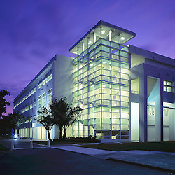 Wolfson Building (School of Communications) at night