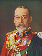 George V (1865-1936), King of the United Kingdom and Emperor of India 1910-1936.