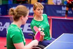 SLOVENIA (DOLINAR Andreja and MEGLIC Barbara) during day 4 of 15th EPINT tournament - European Table Tennis Championships for the Disabled 2017, at Arena Tri Lilije, Lasko, Slovenia, on October 1, 2017. Photo by Ziga Zupan / Sportida
