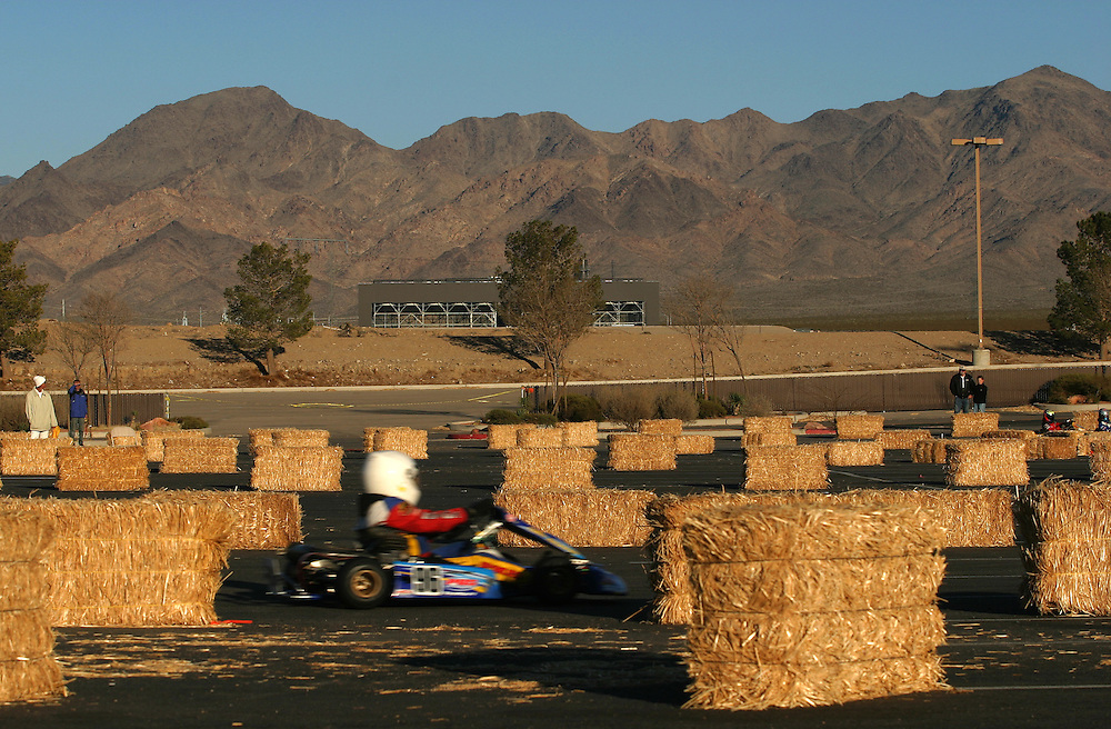 Go karts in the International Karting Federation race in Primm Nevada Saturday march 3 .2007