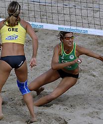 26-08-2006: VOLLEYBAL: NESTEA EUROPEAN CHAMPIONSHIP BEACHVOLLEYBALL: SCHEVENINGEN<br /> Felbabova, Lenka (CZE)<br /> ©2006-WWW.FOTOHOOGENDOORN.NL