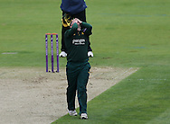 Steven Mullaney of Nottinghamshire Outlaws shows his disappointment of not getting the wicket during the Royal London One Day Cup match at Emirates Durham ICG, Chester-le-Street<br /> Picture by Simon Moore/Focus Images Ltd 07807 671782<br /> 06/09/2014