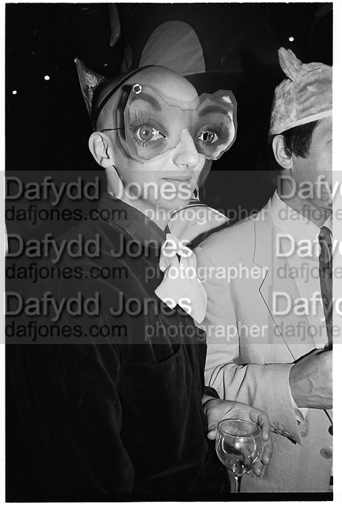 Stephen Jones, Surrealist Ball. Fulham Studios. 5 October 1984. SUPPLIED FOR ONE-TIME USE ONLY> DO NOT ARCHIVE. ? Copyright Photograph by Dafydd Jones 248 Clapham Rd.  London SW90PZ Tel 020 7820 0771 www.dafjones.com