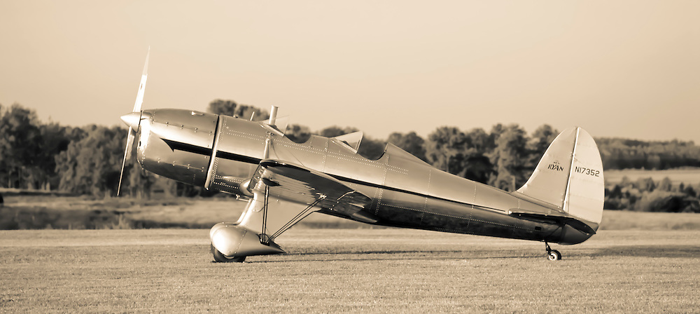 A Ryan ST, built in April, 1937.  Restored to flying condition by David Harwell of Barnstormer's Workshop in Williamson, Ga., in September, 2007.
