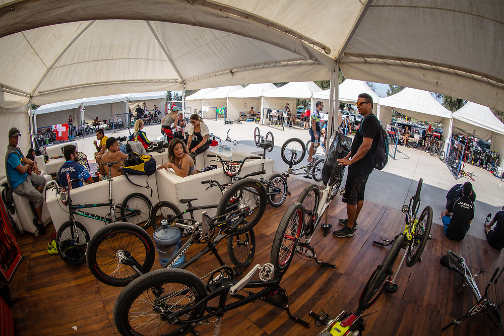 at round 8 of the 2018 UCI BMX Supercross World Cup in Santiago del Estero, Argentina.
