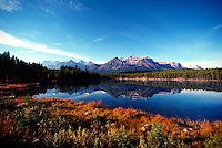 Herbert Lake in autumn colors, Banff National Park, Alberta, Canada