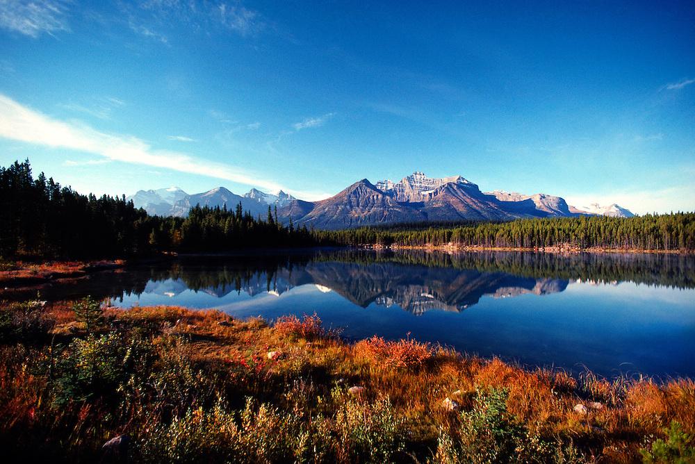 Herbert Lake in autumn colors, Banff National Park, Alberta, Canada