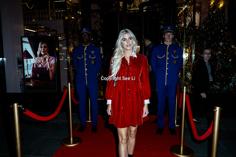 Ashley James attends the launch of the Aspinal of London store on Regent's Street St. James's on December 5, 2017 in London, England.