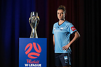 SYDNEY, AUSTRALIA - OCTOBER 15:  Chloe Logarzo of Sydney FC poses during the 2018/19 A-League Season Launch at Fox Studios on October 15, 2018 in Sydney, Australia.  (Photo by Mark Metcalfe/Getty Images)