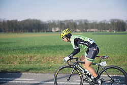 Rosella Ratto in the early kilometres - 2016 Omloop het Nieuwsblad - Elite Women, a 124km road race from Vlaams Wielercentrum Eddy Merckx to Ghent on February 27, 2016 in East Flanders, Belgium.