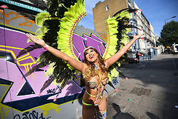 © Licensed to London News Pictures. 28/08/2017. London, UK. The second day of the 2017 Notting Hill carnival. The two day event is the second largest street festival in the world after the Rio Carnival in Brazil, attracting over 1 million people to the streets of West London. Photo credit: Ben Cawthra/LNP