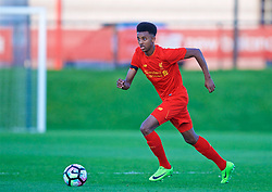 KIRKBY, ENGLAND - Friday, March 31, 2017: Liverpool's Abdulrahman Sharif in action against West Ham United during an Under-18 FA Premier League Merit Group A match at the Kirkby Academy. (Pic by David Rawcliffe/Propaganda)