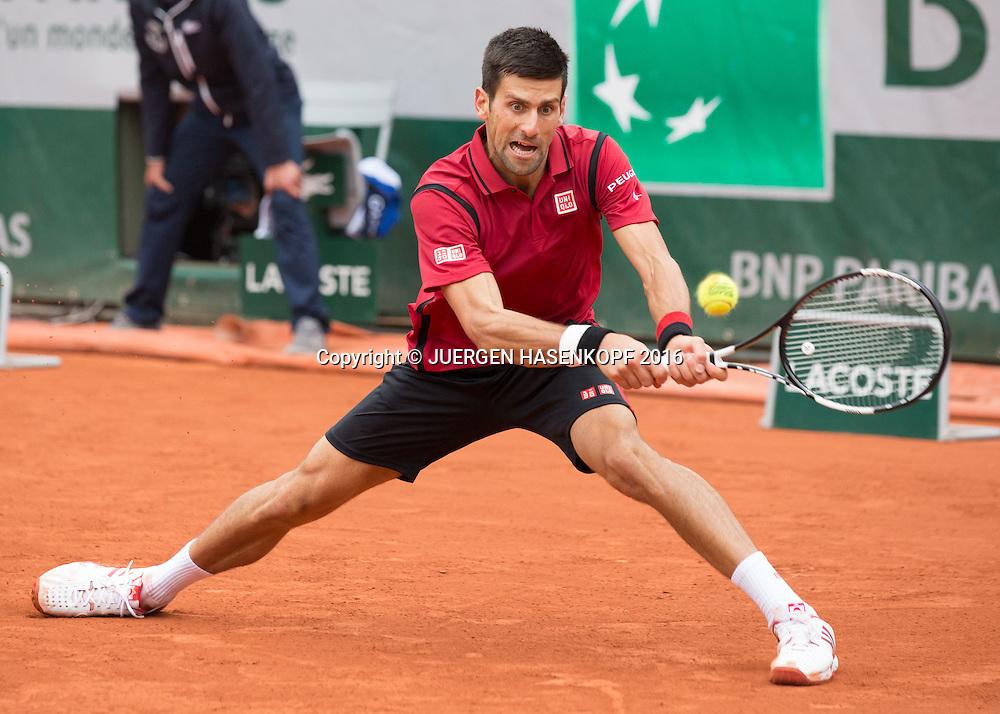 Novak Djokovic (SRB) Herren Finale, Endspiel,<br /> <br /> Tennis - French Open 2016 - Grand Slam ITF / ATP / WTA -  Roland Garros - Paris -  - France  - 5 June 2016.